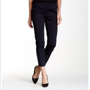 Lafayette 148 NY Side Zip Black Crop Pants 2 / NWT